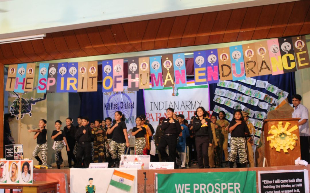 Assembly of class IV C  Theme: Paramilitary forces of India