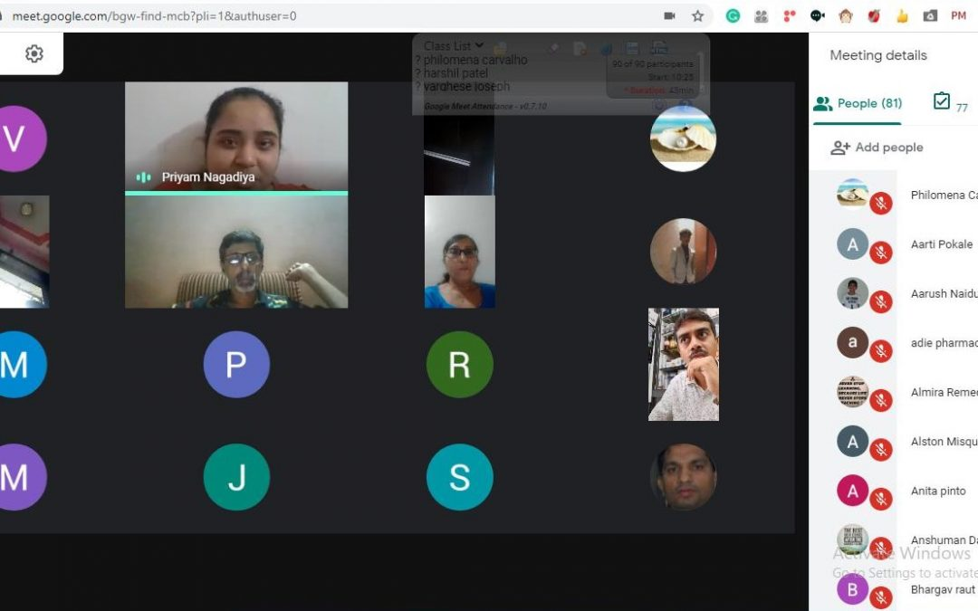 FYJC Online Admission Meeting with the Parents/Students on Google Meet