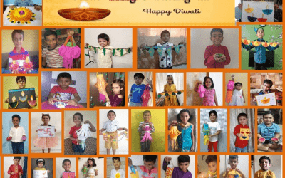 Diwali Article Making in Pre-Primary Section